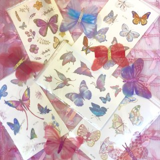 <img class='new_mark_img1' src='//img.shop-pro.jp/img/new/icons4.gif' style='border:none;display:inline;margin:0px;padding:0px;width:auto;' />Butterfly Tiny Tattoo Sticker
