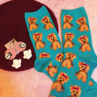 "<img class='new_mark_img1' src='//img.shop-pro.jp/img/new/icons4.gif' style='border:none;display:inline;margin:0px;padding:0px;width:auto;' />Sock Smith<br>Novelty crew ""Yorkies"""