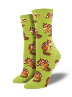 "<img class='new_mark_img1' src='//img.shop-pro.jp/img/new/icons4.gif' style='border:none;display:inline;margin:0px;padding:0px;width:auto;' />Sock Smith<br>Novelty crew ""Chipmunk"