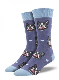 <img class='new_mark_img1' src='//img.shop-pro.jp/img/new/icons4.gif' style='border:none;display:inline;margin:0px;padding:0px;width:auto;' />Sock Smith Men's Novelty Crew-French Kiss (フレンチブルドッグ)