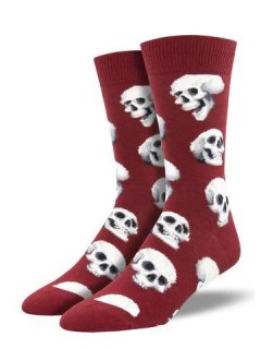 <img class='new_mark_img1' src='//img.shop-pro.jp/img/new/icons4.gif' style='border:none;display:inline;margin:0px;padding:0px;width:auto;' />Sock Smith Men's Novelty Crew-Sacred Skulls(スカルヘッド)