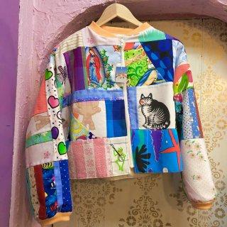 Patchwork Zip-up Jacket