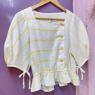 <img class='new_mark_img1' src='https://img.shop-pro.jp/img/new/icons4.gif' style='border:none;display:inline;margin:0px;padding:0px;width:auto;' />Summer Stripe Baloon Sleeve Tops
