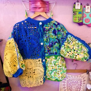 <img class='new_mark_img1' src='https://img.shop-pro.jp/img/new/icons4.gif' style='border:none;display:inline;margin:0px;padding:0px;width:auto;' />Crochet Knitted Cardi