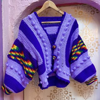 <img class='new_mark_img1' src='https://img.shop-pro.jp/img/new/icons4.gif' style='border:none;display:inline;margin:0px;padding:0px;width:auto;' />Pop Corn Knit Cardi