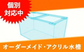オーダーメイド・アクリル水槽 W1000×D250×H150(ウールボックス一体型)