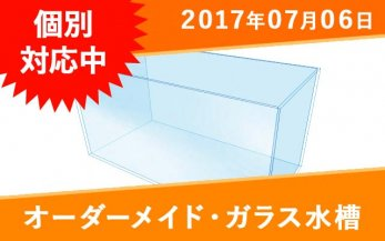 オーダーガラス水槽 W1800×D300×H360� (クリアガラス)