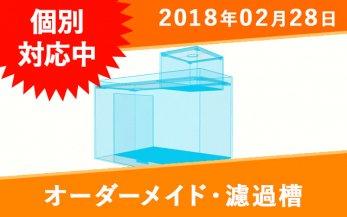 オーダーメイド 2槽式濾過槽 箱形一体式(ウールボックス付き)