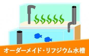 オーダーメイド リフジウム水槽(ポンプ付き) 90cm水槽用 W870×D200×H250mm