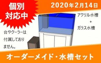 オーダーメイド アクリル水槽(W615)+ガラス水槽(W600)セット