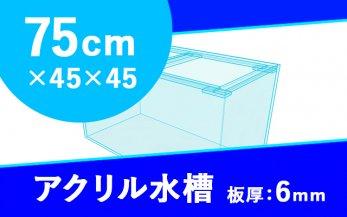 アクリル水槽 W750×D450×H450mm(規格サイズ)