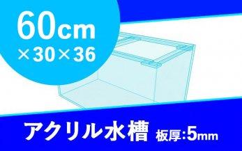 アクリル水槽 W600×D300×H360mm(規格サイズ)