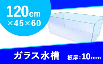 ガラス水槽 W1200×D450×H600mm(規格サイズ)