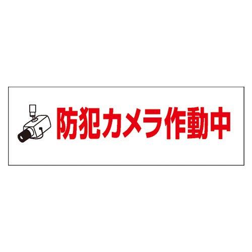 PM28B反射防犯プレート100×300mm(防犯カメラ作動中)