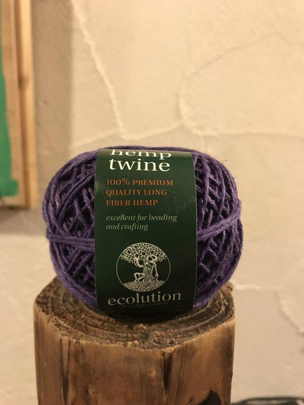 fine hemp twine 紫 (細)