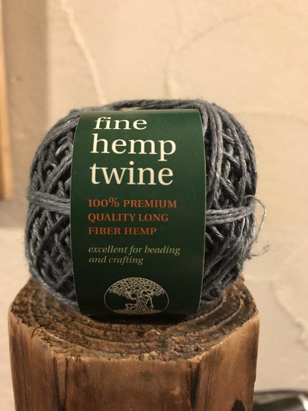 fine hemp twine 灰 (細)
