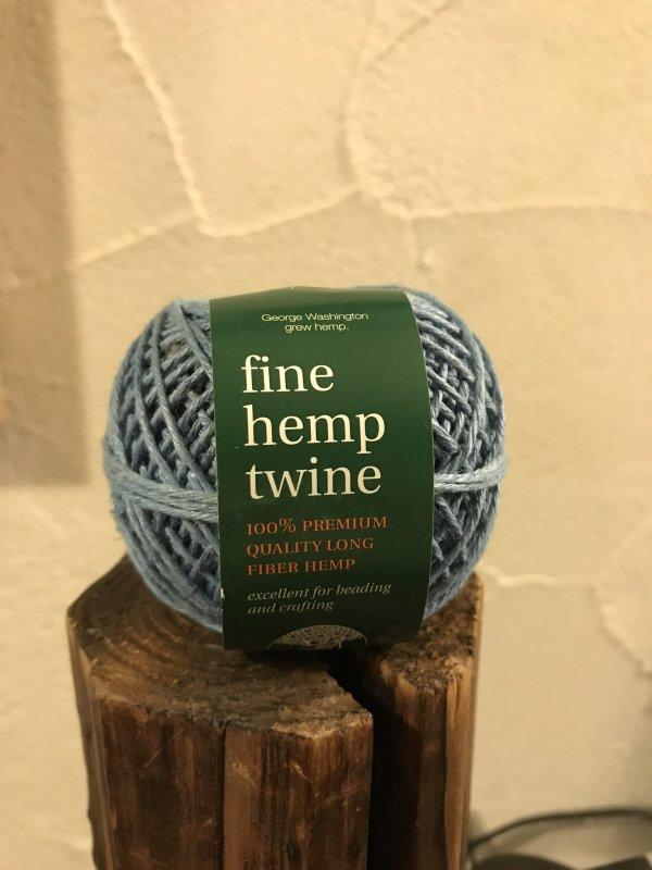 fine hemp twine 水色 (細)