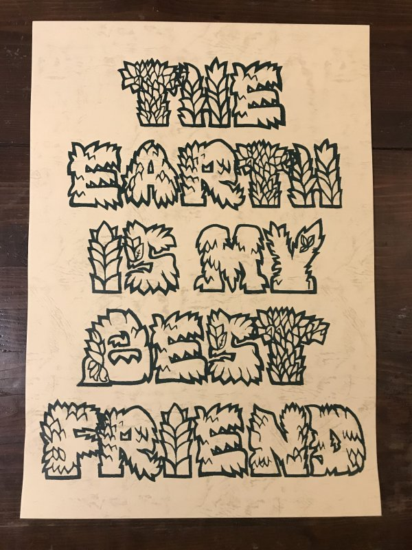 Bigfoot one screen print poster