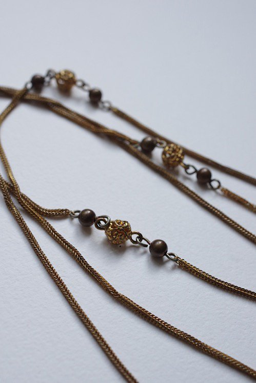 collier アンティーク チェーンネックレス