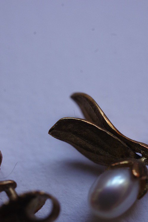 boucles d'oreilles vintage ヴィンテージ ピアス 宿り木
