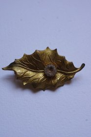 broche vintage ヴィンテージブローチ はっば