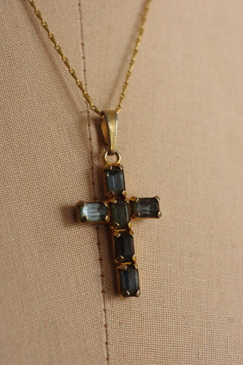 collier vintage ヴィンテージ ペンダント クロス