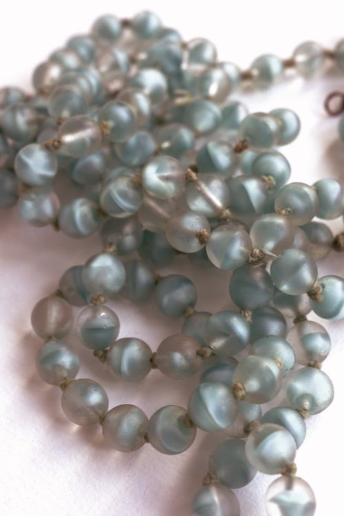 collier vintage ヴィンテージガラスネックレス 金具なし