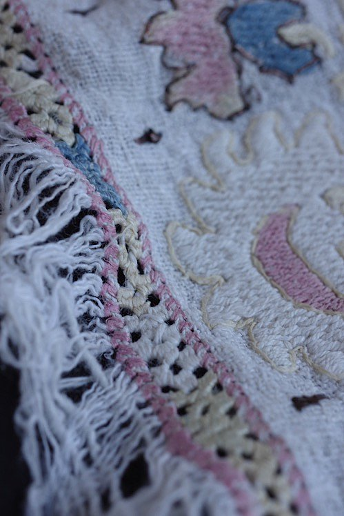 serviette brode antique アンティーク 刺繍 リネン オリエンタル 11