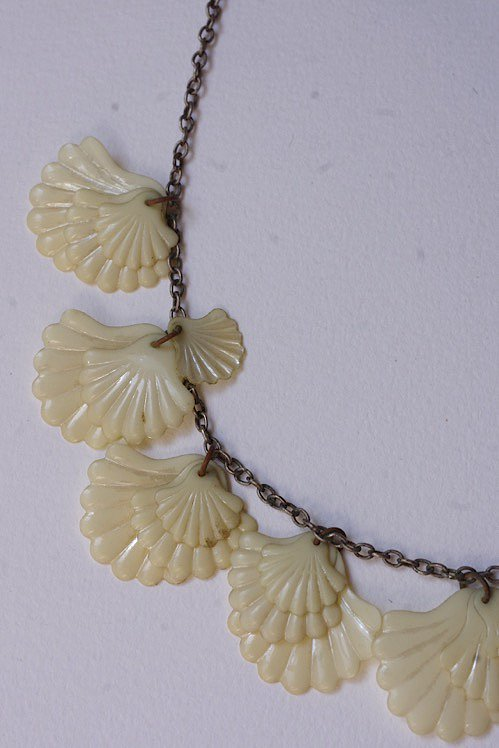 collier vintage ヴィンテージ ネックレス シェルモチーフ