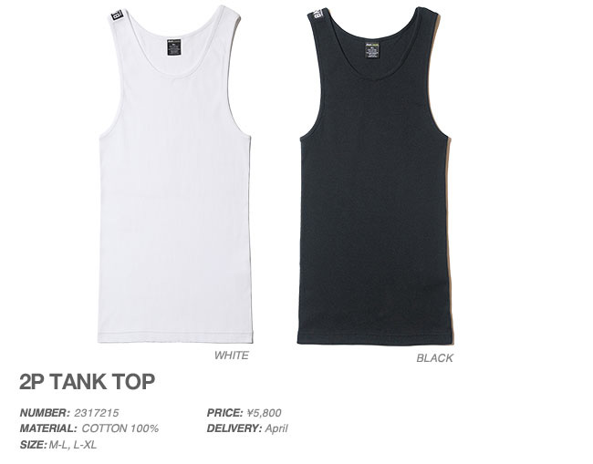 2P TANK TOP, Back Channel
