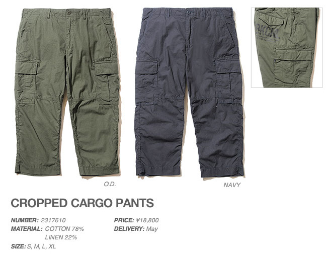 CROPPED CARGO PANTS,BACK CHANNEL