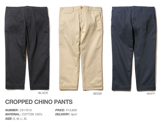 CROPPED CHINO PANTS,BACK CHANNEL