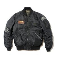 BackChannel バックチャンネル【 BACK CHANNEL × AVIREX MA-1 JACKET BLACK 】