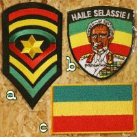 【IMPORT】 Iron-on patches Rasta_I
