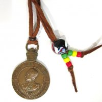 【Ethiopian Silver】Haile Selassie I Medal Necklace (Bronze)