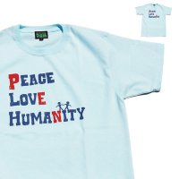 【 Strictly VIBES original ストリクトリーバイブス 】 Peace Love Humanity Tシャツ Sky