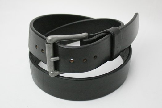 "★REDWOOD ""FATIGUE"" / 12oz Havanna BRIDLE LEATHER BELT (BLACK)"