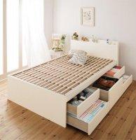 【組立設置費込】 日本製_棚・コンセント・大容量すのこチェストベッド【Salvato】サルバト 引き出しBOX構造ベッド