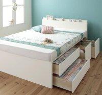 【組立設置費込】 日本製・棚・コンセント・大容量チェストベッド【Auxilium】アクシリム 組立設置ベッド