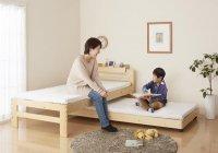 長く使える丈夫な収納式天然木すのこペアベッド【pair-Joy】ペアジョイ 天然木ベッド