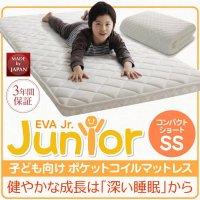 子どもの睡眠環境を考えた 安眠マットレス 薄型・軽量・高通気 【EVA】 エヴァ ジュニア ポケットコイル マットレス