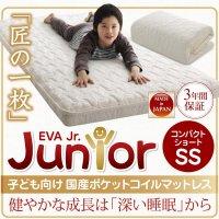 子どもの睡眠環境を考えた 日本製 安眠マットレス 抗菌・薄型・軽量 【EVA】 エヴァ ジュニア 国産ポケットコイル マットレス