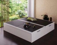 【組立設置】美草・日本製 大容量畳跳ね上げベッド【Komero】コメロ 茶色・ブラウンベッド