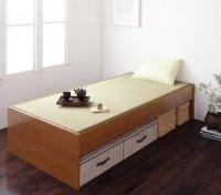 ベンチにもなる天然い草ヘッドレス畳ベッド【若草】わかくさ 和風・畳ベッド