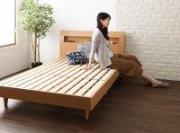 棚・コンセント・デザインすのこベッド【Mowe】メーヴェ ダブルベッド