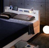 スリム棚・多コンセント・収納ベッド【Splend】スプレンド 収納ベッド