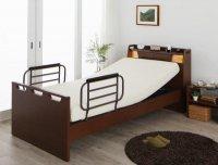 棚・照明・コンセント付き電動介護ベッド【ラクライト】【非課税】 電動介護ベッド