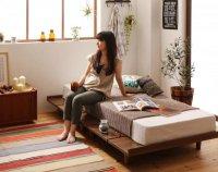 ショート丈 デザインボードベッド【Catalpa】キャタルパ ショートベッド 短いベッド
