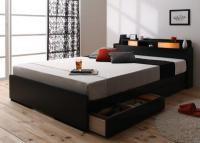 照明・棚・収納ベッド【All-one】オールワン シングルベッド