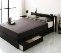 モダンライト・コンセント 収納ベッド【Urban】アーバン シングルベッド